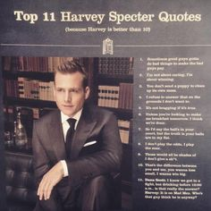 Top 25 Greatest Harvey Specter Quotes: Click image to discover Harvey Specter's best quotes on Opponents, Winning, Goals, Success and Life. Suits Series, Suits Tv Shows, Top Quotes, Great Quotes, Basic Quotes, Harvey Specter Anzüge, Harvey Spectre Zitate, Suits Harvey, Suits Quotes Harvey