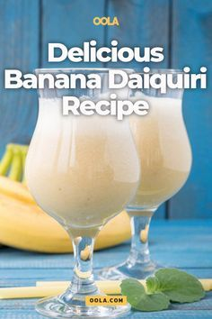 A Delicious Banana Daiquiri Recipe There are limitless variations of this beachy beverage, but we've chosen to highlight one of our favorites. Enjoy our famous and delicious frozen banana daiquiri recipe! Booze Drink, Non Alcoholic Drinks, Cocktail Drinks, Rumchata Drinks, Beverage Drink, Beverages, Banana Rum Drinks, Banana Colada, Cocktail