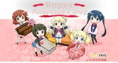 """Crunchyroll - Get Some Moe Valentines from """"Kinmoza!,"""" """"Non Non Boyori"""" and """"Is The Order a Rabbit?"""""""