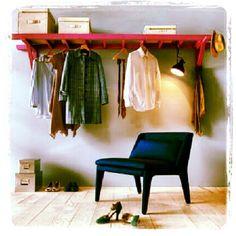 Ladder clothing rack
