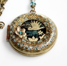 Cellar Door Locket by M Stevenson Designs on Etsy