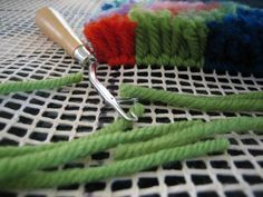 Latch hook rug making is an easy and fun craft that you can even do whilst watching the TV! This page gives beginners a quick introduction to the technique, and also offers ideas for DIY projects.