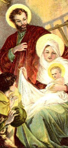 sweet nativity scenes of yesteryear....