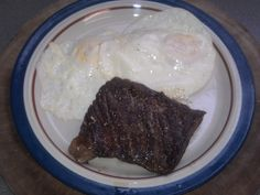 Skirt Steak and Eggs; Recipe