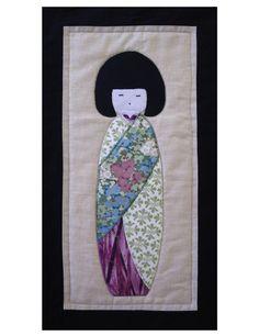 Kokeshi. As a pillow front