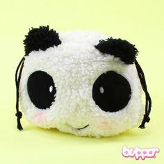 Panda Pouch - so cute! Kawaii Bags, Kawaii Shop, Pouch Bag, Backpack Bags, Pouches, Kawaii Accessories, Cute Panda, Cute Korean, Cute Bags