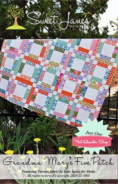 Grandma Mary's Five Patch Quilt Pattern Sweet Jane's Quilting and Design - Fat Quarter Shop