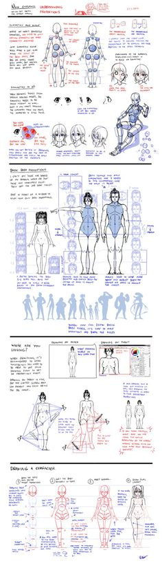 Anatomy Drawing Tutorial Nsio explains: Understanding Proportions by Nsio on DeviantArt - Human Figure Drawing, Figure Drawing Reference, Body Drawing, Anatomy Drawing, Art Reference Poses, Anatomy Reference, Manga Drawing, Drawing Lessons, Drawing Skills