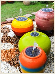 Want to increase unique elements to your backyard? Choose some of the unique DIY fountains! However, if you have no idea how to make a fountain, don't be afraid. Here you want to create our favorite DIY outdoor fountain, and… Continue Reading → Garden Water Fountains, Diy Fountain, Garden Ponds, Koi Ponds, Water Gardens, Garden Art, Diy Water Feature, Backyard Water Feature, Modern Outdoor Fountains