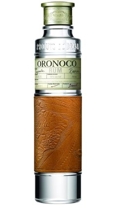 Oronoco Rum from Brazil. Unusual to find a Brazilian white rum as the traditional cane alcohol product is cachaca. Cool Packaging, Bottle Packaging, Brand Packaging, Packaging Design, Product Packaging, Whisky, Alcohol Bottles, Liquor Bottles, Rum Liquor