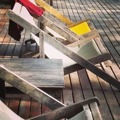 @lenuku old wood, textile, red and yellow, shabby, couch, sun lounger, chaise longue