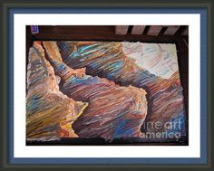 Gold Canyon Relief Framed Print By Mike Dendinger