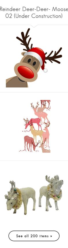 """Reindeer Deer-Deer- Moose 02 (Under Construction)"" by kelsjax ❤ liked on Polyvore featuring christmas, xmas, home, home decor, holiday decorations, reindeer, holiday reindeer decorations, christmas home decor, christmas holiday decorations and handmade home decor"