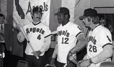 Bobby Grich, Don Baylor and Joe Rudi - California Angels