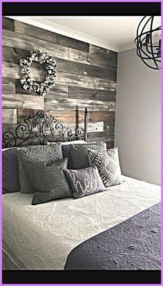 Home Bedroom, Rustic Bedroom, Bedroom Design, Wall Decor Bedroom, Chic Bedroom, Bedroom Wall, House, Home Decor, Country House Decor