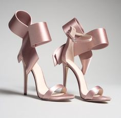 Pink Satin Cute Bow Heels Open Toe Ankle Strap Sandals for Party, Ball, Wedding, Going out Bow Heels, Stiletto Heels, High Heels, Shoes Heels, Stilettos, Pumps, Heels Outfits, Flats, Shoes Uk