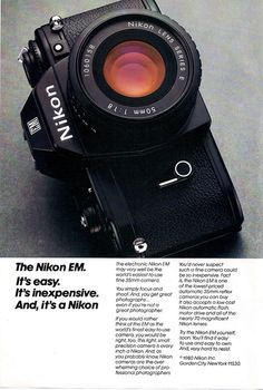 Nikon EM Camera Ad - 1980 by Casual Camera Collector, via Flickr
