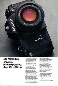 Nikon EM Camera Ad - 1980 by Casual Camera Collector, via Flickr