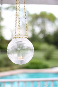 DIY How To Make Outdoor Glass Globe Lights, how cool would this be with a solar light? :)