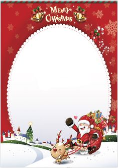 15 free printable paper Letter to Santa Merry Christmas Photo Frame, Christmas Card Sayings, Christmas Border, Christmas Photos, Christmas Cards, Free Printable Santa Letters, Christmas Letter Template, Templates Printable Free, Christmas Printables