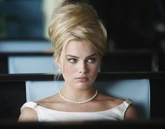 70's blonde hair swirl.  With pearls below.  Exceptional.