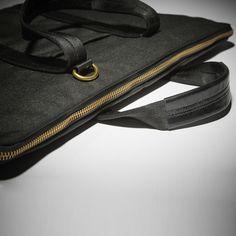Kirkman Briefcase – Slim Black Mesh, Briefcase, Slim, Leather, Bags, House, Handbags, Black Knit, Haus