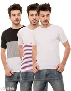 Tshirts Trendy Men's Cotton Blend Tshirts Combo Fabric: Cotton Blend Sleeves: Half Sleeves Are Included Size: S M L XL (Refer Size Chart)  Length: Refer Size Chart Fit: Regular Fit Type: Stitched Description: It Has 3 Pieces of Men's T-Shirts Pattern: Solid Country of Origin: India Sizes Available: S, M, L, XL   Catalog Rating: ★4 (434)  Catalog Name: ⭐Stylish Trendy Men's Cotton Blend Tshirts Combo Vol 9 CatalogID_284649 C70-SC1205 Code: 934-2145898-