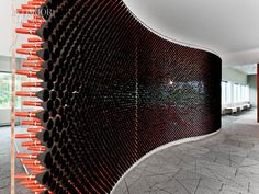 Elizabeth Arden office by Knoll. This conference room wall is made of make-up…