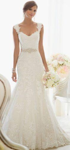Vestido de novia sirena con encaje