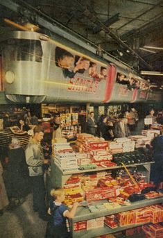 """The """"Santa Express"""" made its debut at the new Grand Rapids, Michigan Herpolsheimer's Department Store in 1949."""