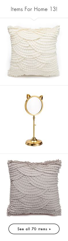 """""""Items For Home 13!"""" by milena-serranista ❤ liked on Polyvore featuring white, home, home decor, mirrors, mirror, filler, gold mirrors, cat mirror, cat home accessories and gold home accessories"""