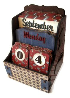 Perpetual Calendar - A Proper Gentleman (Designs By Dawn Rene)