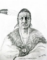 """My pencil drawing of Native American Indian """"Missouri Chief""""   Ah-Hah-Che-Ke-Saw-Ke. He was my Great great great great grandfather of the Otoe- Missouria Tribe.  This print will be available soon for sale on ebay in various sizes."""