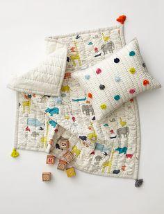 Noah's Ark Play Blanket & Pom Pom Pillow - Petit Pehr