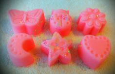 Do your kids love fun smelling soaps? Candied apple fragrance mini soaps. Pink color You will get 3 different shapes from the ones pictured. (I choose) Handmade Soap made with coconut oil, olive oil, palm oil, cocoa butter, water, lye, mineral mica powder (color), and lfragrance oil. Very...