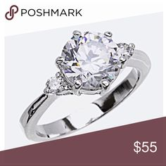 Final Price! Size 8 CZ Crystal Ring New New with tags, Cubic Zirconia, Size 8 Jewelry Rings