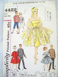 Doll Pattern Simplicity 4422 for Barbie and Ken by CharlotteStuff