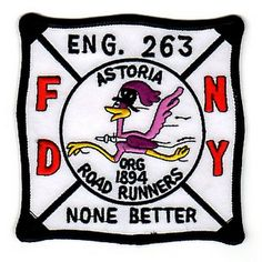 Another fire department patch, this time featuring a road runner :-). There is also one featuring the Roswell alien...