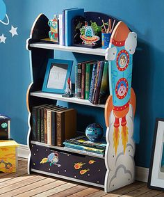 Another great find on #zulily! Outer Space Wood Bookcase #zulilyfinds