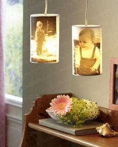 Lampenschirm mit Foto-Motiv