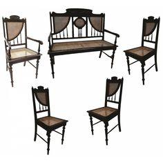 www.iarremate.com.br Leilão Sérgio Longo dia 24/03 as 20:30hs! Lote 0123 Conjunto p/ sala de visita em madeira nobre recortada e torneada, espaldar e assento em palhinha, c/ 5 peças, sendo: sofá de 2 lugares, poltrona e 3 cadeiras. - Déc. 40. #moveis #antiguidades #arte #arquitetura #decoração #iarremate #sergiolongo #leilaodearte #leilaodeantiguidades #leilaovirtual #leilaoonline