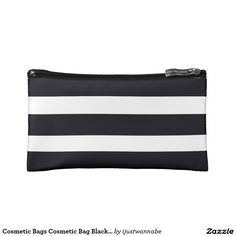 Cosmetic Bags Cosmetic Bag Black & White Stripes Cool gifts! Matching Travel Bags in my store! $27.95