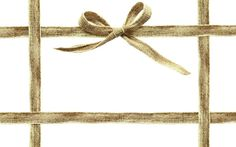 canvas ribbon frame with bow