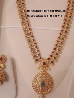 Indian Jewelry Sets, India Jewelry, Pearl Jewelry, Wedding Jewelry, Silver Jewelry, Gold Haram Designs, Vaddanam Designs, Gold Jewellery Design, Latest Jewellery