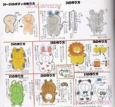 . Sewing Stuffed Animals, Stuffed Animal Patterns, Erica Catarina, Animal Templates, Japanese Gifts, Operation Christmas Child, Animal Costumes, Felt Patterns, Diy Craft Projects