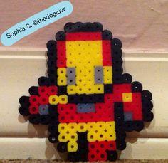 Perler Beads - Iron Man by Sophia S.