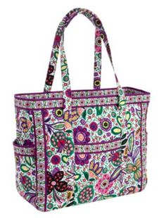 Get Carried Away Tote   Vera Bradley- I think that this would be the perfect sized carry-on bag for traveling, and it comes in so many great patterns and colors!