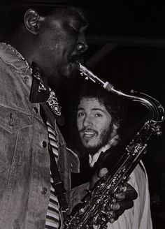 Clarence Clemmons and Bruce Springsteen