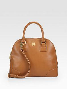 Tory Burch - Robinson Small Dome Satchel, looks like my Dooney Holiday Fashion, Winter Fashion, Holiday Style, Cute Bags, Clothes Horse, Purses And Bags, Tory Burch, Satchel, Handbags