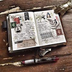 More daily pages . #bulletjournal #bulletjournaling #midoritravelersnotebook #travelersnotebook #notebook #planner #diary #journal #passporttn #midoripassport